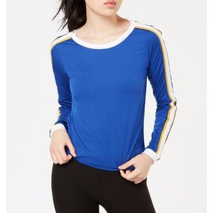 Long striped sleeves blue t-shirt size small